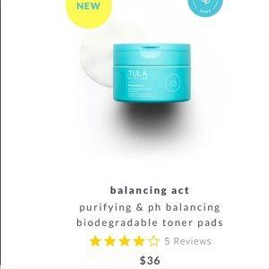 NEW Tula purifying & ph balancing toner pads
